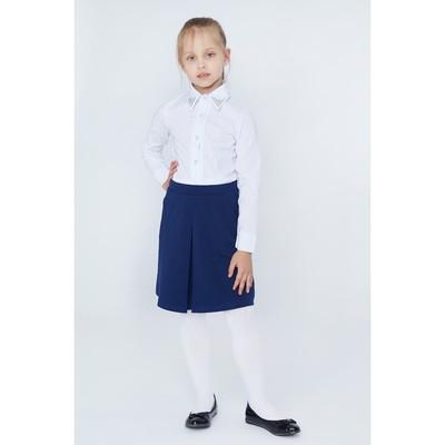 Юбка для девочек, рост 116-122 см, возраст 6 лет, цвет синий