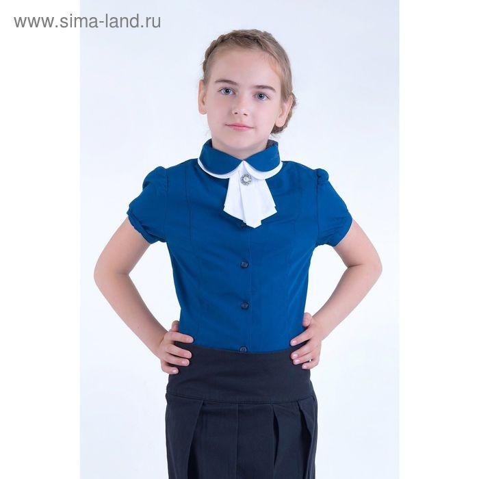 Блузка для девочек, рост 158-164 см, возраст 13 лет, цвет синий (арт. GWTX8017)
