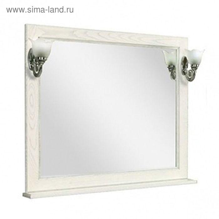 Зеркало «Жерона», белое серебро , Акватон