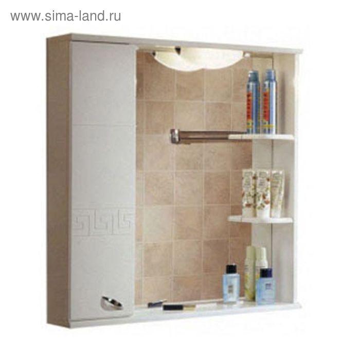 Зеркало со шкафом Акватон Аттика левое 862*853*165 белое