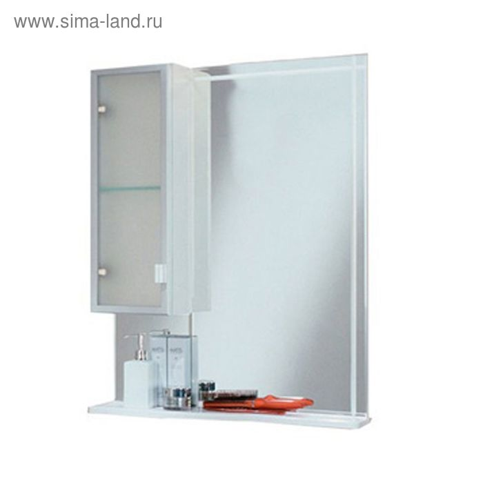 Зеркало-шкаф Акватон Альтаир 65 левое 816*620*148 без светильника