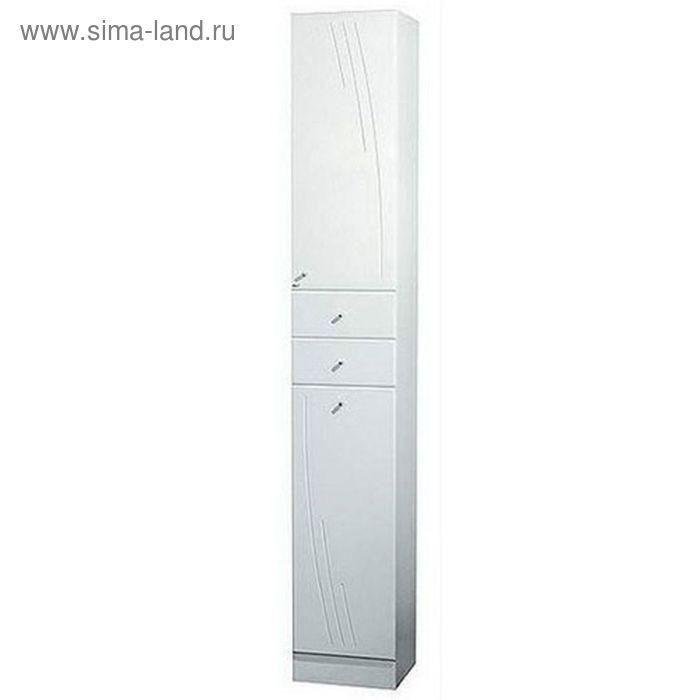 Шкаф-колонна Акватон Минима-М левый с бельевой корзиной белый