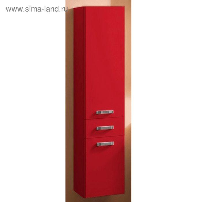 Шкаф-колонна Акватон подвесная Америна бордо темный