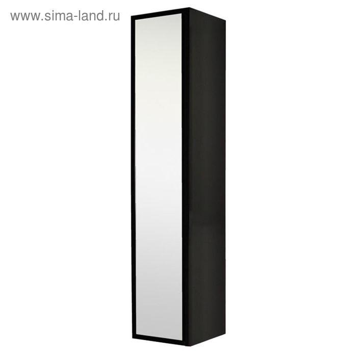 Шкаф-колонна Акватон подвесная Римини черный глянец