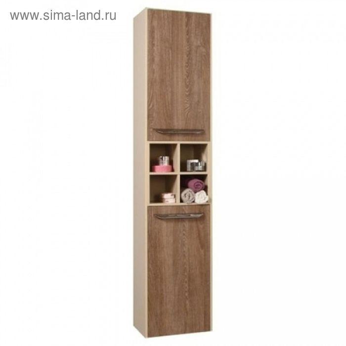 Шкаф-колонна Акватон подвесной Блент кремовый/дуб европейский