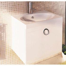 Тумба с раковиной «Магнолия-60», подвесная, 50х60х45 см, цвет белый