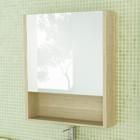 """Зеркало-шкаф для ванной """"Марио-60"""" 70 х 60 х 14,1 см, цвет сосна лоредо"""