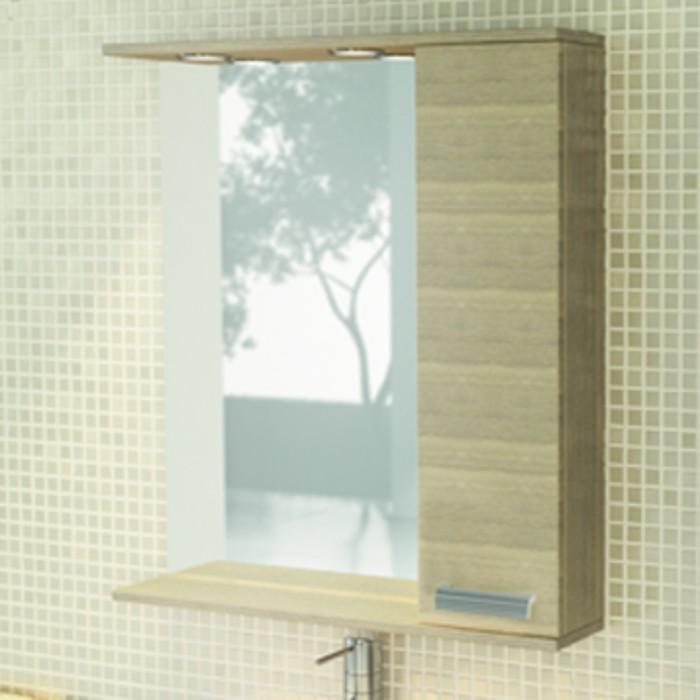 """Зеркало-шкаф для ванной """"Марио-75"""" 83,2 х 75 х 15,4 см, цвет сосна лоредо"""
