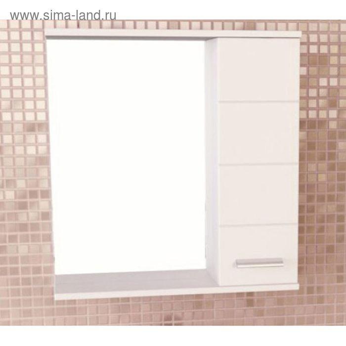 "Зеркало-шкаф для ванной ""Модена-75"" 78,6 х 75 х 15,4 см, белое"