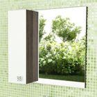 """Зеркало-шкаф для ванной """"Рио-80"""" 75 х 79,6 х 14,6 см, дуб солсбери"""