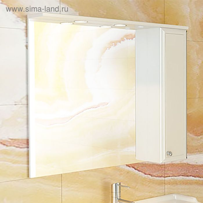 "Зеркало-шкаф для ванной ""Сочи-100"" 82 х 100 х 15,5 см, белый"