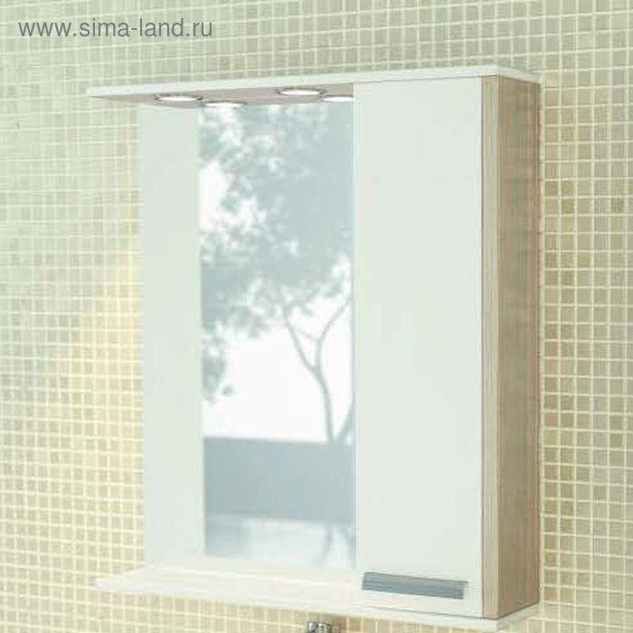 "Зеркало-шкаф для ванной ""Тулуза-75"" 83,2 х 75 х 15,4 см, цвет сосна лоредо"