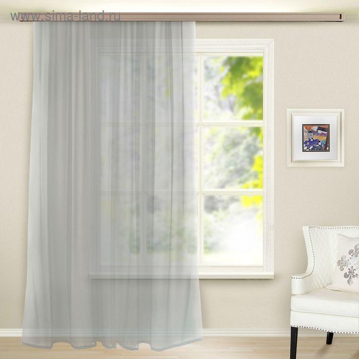 Штора вуаль, ширина 300 см, высота 260 см, цвет серый