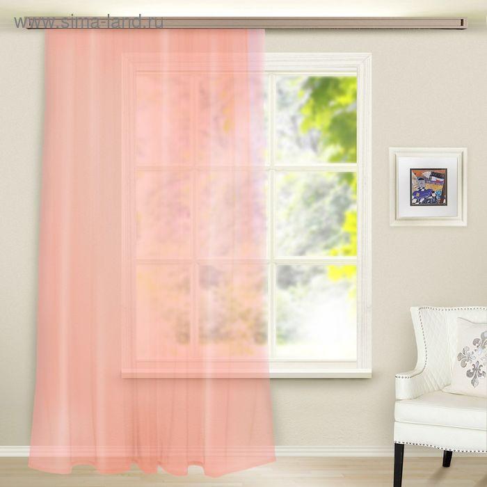 Штора вуаль, ширина 300 см, высота 260 см, цвет светло-розовый