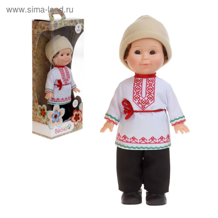 """Кукла """"Митя"""" в марийском костюме со звуковым устройством, 34 см"""