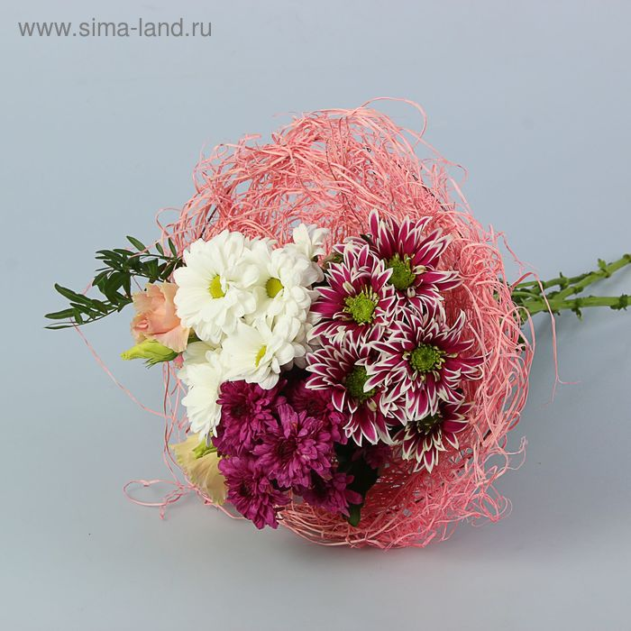 Каркас для букета 30 см, ротанг, светло-розовый