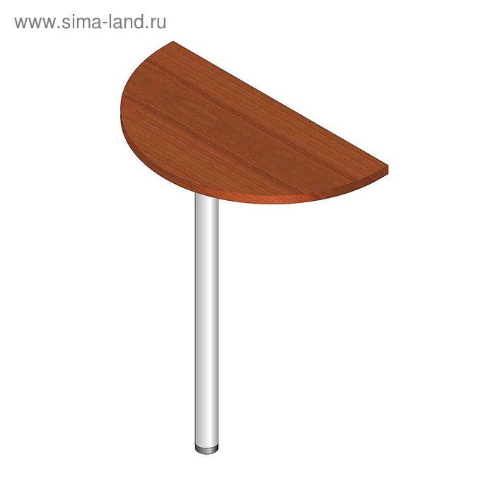 Стол-приставка полукруг, 340х680х750 Орех  мет.опора ХРОМ