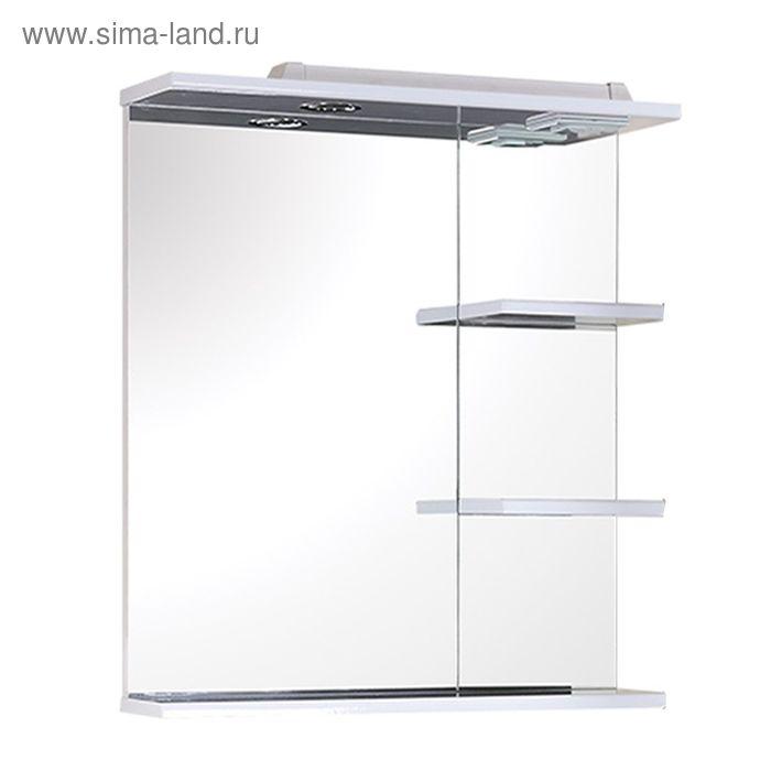 Зеркало с полками «Кипр» с подсветкой, 58 см