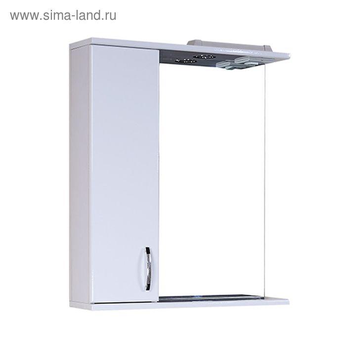 Шкаф-зеркало Гоа 70 см. с подсветкой - левое
