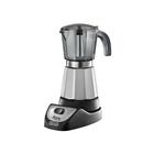 Кофеварка De Longhi Alicia plus EMKM.6.B, 450 Вт, 0.6 л, гейзерная, металл/черный