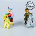 """Ковровская глиняная игрушка """"Всадник на коне. Скоморох"""" микс"""