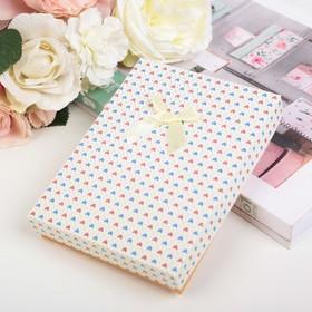 """Коробка подарочная """"Сердца"""" 16 х 12 х 3 см, цвет ванильный в Донецке"""
