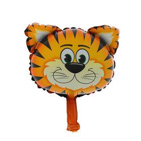 "Balloon foil 10"" ""tiger Head"" for sticks, flap, mini"