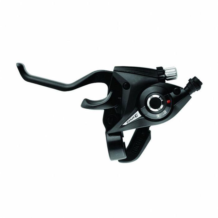 Шифтер Shimano Tourney EF51 с торм. ручкой, левый 3 скорости, цвет чёрный