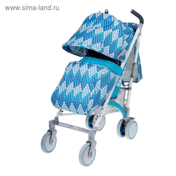 Коляска детская-трость RAINBOW, цвет голубой/белый
