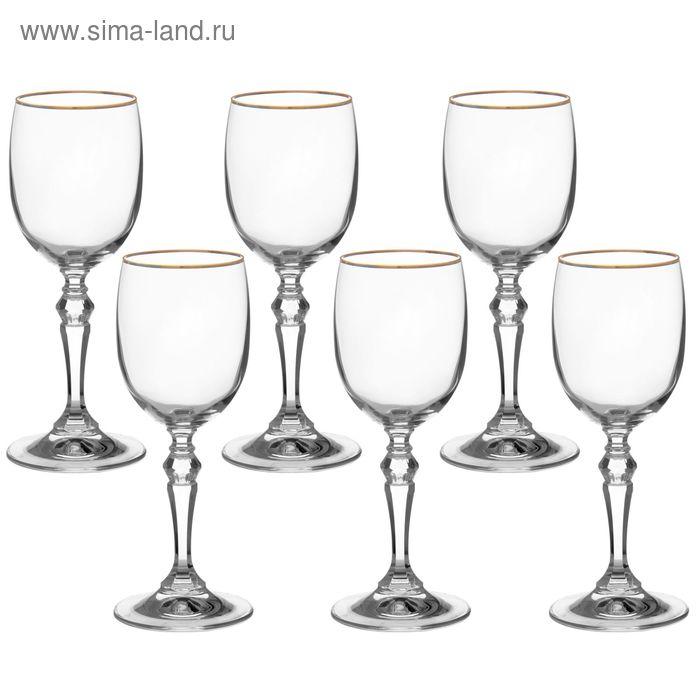 """Набор бокалов для вина 200 мл """"Ларго. Золотая отводка"""", 6 шт"""