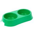 Миска двойная, 0,4 л, зеленая