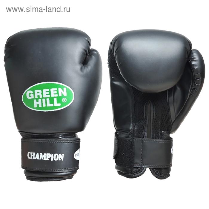 Боксерские перчатки BGC-2040b CHAMPION черные 12 oz кожа