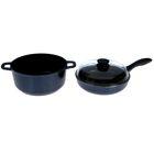 """Набор посуды """"Индиго"""": сковорода 24 см, кастрюля 4 л со стеклянной крышкой"""