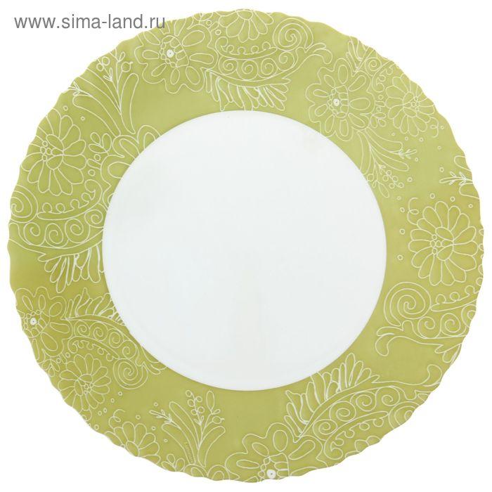 Тарелка плоская d=25 см Aurore Green