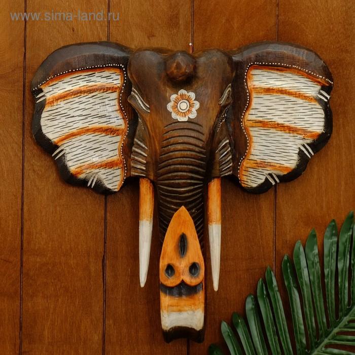 """Сувенир """"Голова слона с цветком"""""""