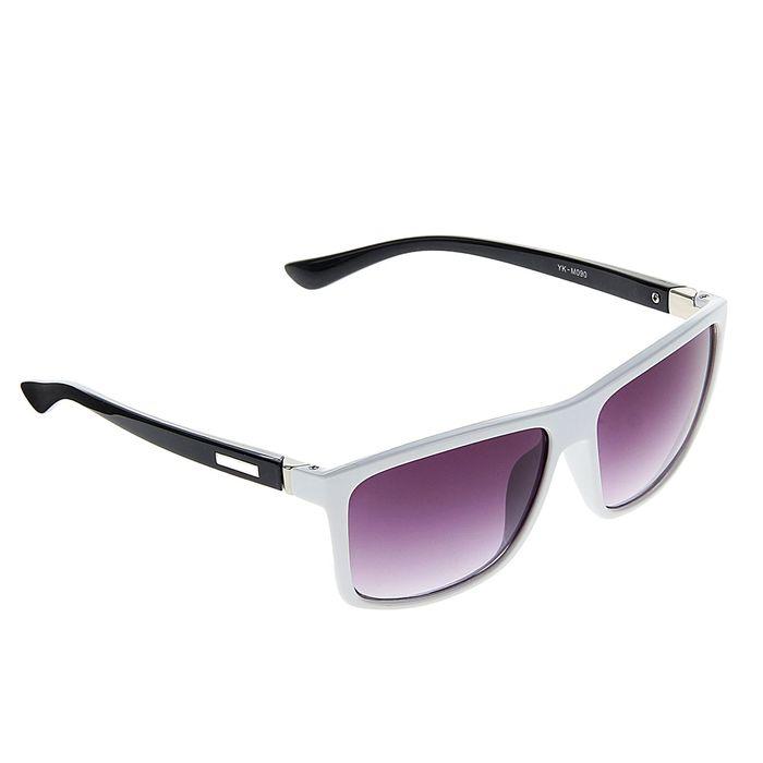 Очки солнцезащитные Square, оправа белая, дужки — вставка прямоугольная, линзы градиент