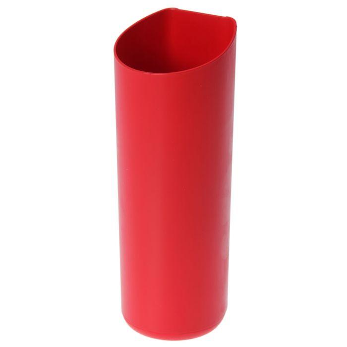 Кашпо для фитомодуля высокое, красное