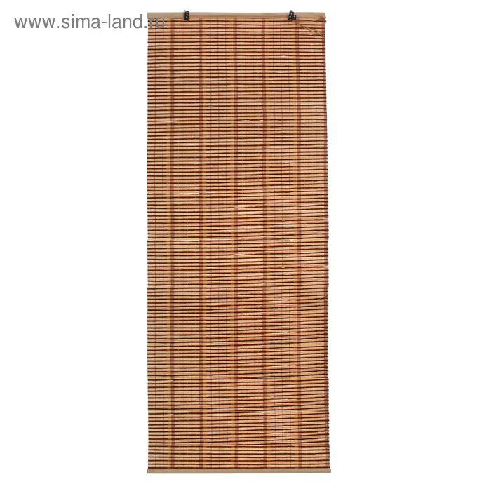 "Штора рулонная бамбук ""Капучино"" 160х60 см"