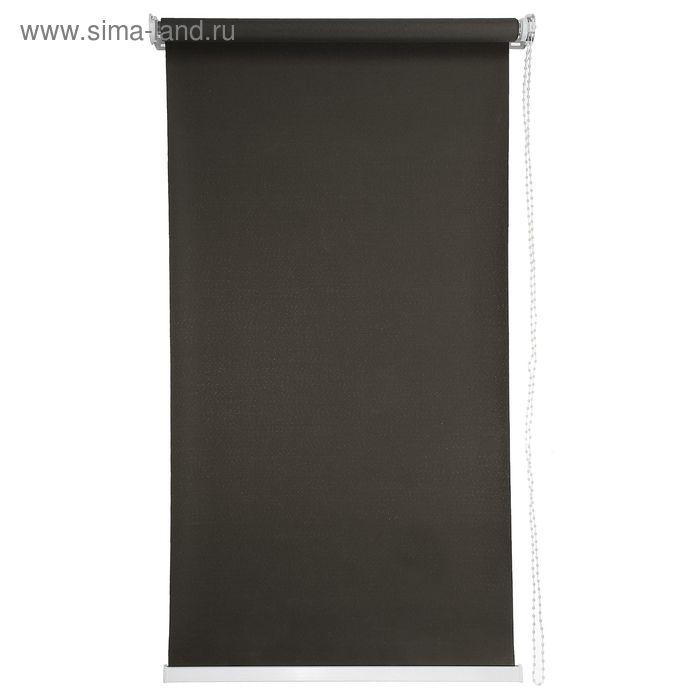 Штора рулонная 60х180 см, цвет коричневый