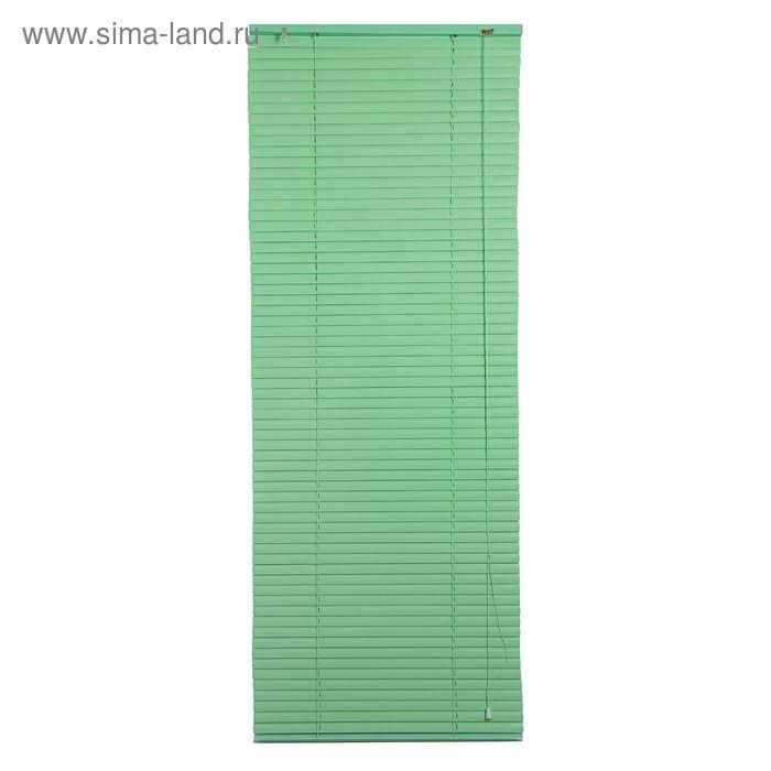 Жалюзи горизонтальные 60х160 см, цвет зеленый