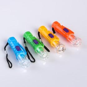 Фонарь ручной с креплением, 0.5 Вт, 3 бат. таблетки в комп-те, микс, 7х2х2 см Ош