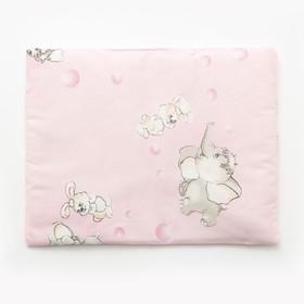 Подушка, размер 30*40 см, цвет розовый, набивка МИКС 214