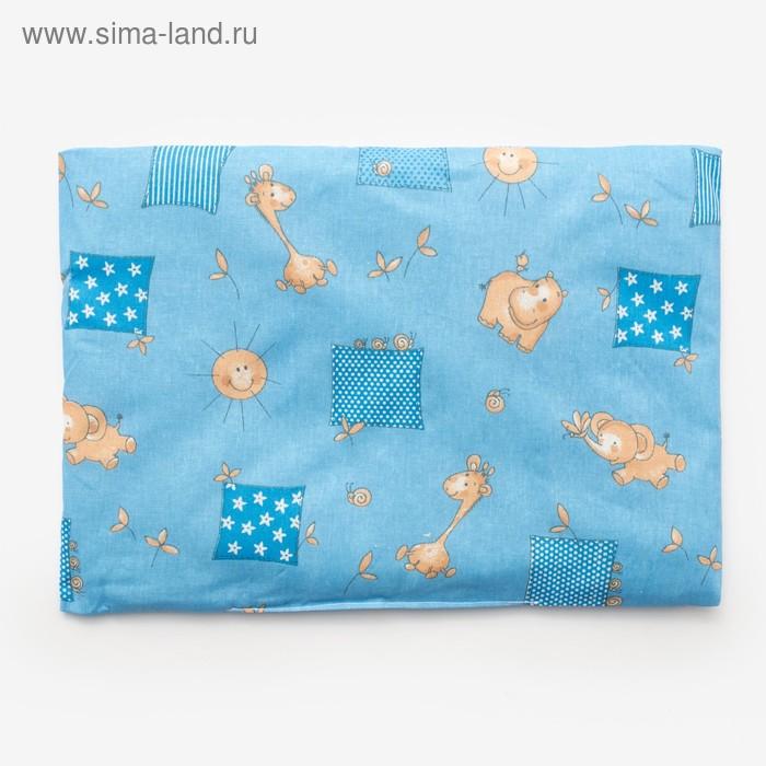 Подушка, размер 30*40 см, цвет голубой, набивка МИКС 214