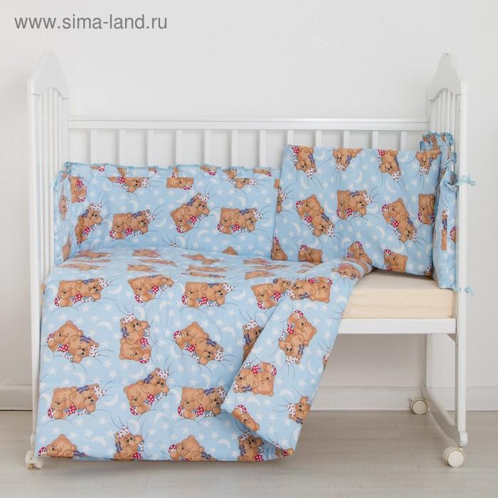 """Комплект """"Спящие мишки"""" (3 предмета), цвет голубой 31"""