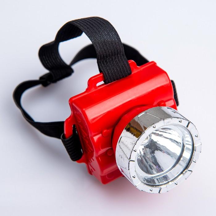 Фонарь налобный Light, диод 1W, микс