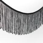 "Тесьма декоративная ""Бахромушка"", ширина 15см, длина 5±1м, цвет чёрный"
