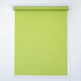 Штора рулонная 120×180 см (с учётом креплений 3,5 см), цвет зелёный - фото 1712818
