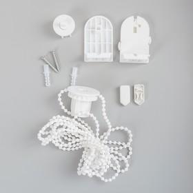 Штора рулонная 120×180 см (с учётом креплений 3,5 см), цвет зелёный - фото 1712820
