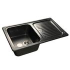 Мойка кухонная Granfest S780L Мойка GF-78 780х500 мм, черный №308