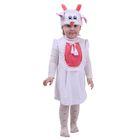 """Карнавальный костюм для девочки от 1,5-3-х лет """"Овечка с колокольчиками"""", велюр, сарафан, шапка"""